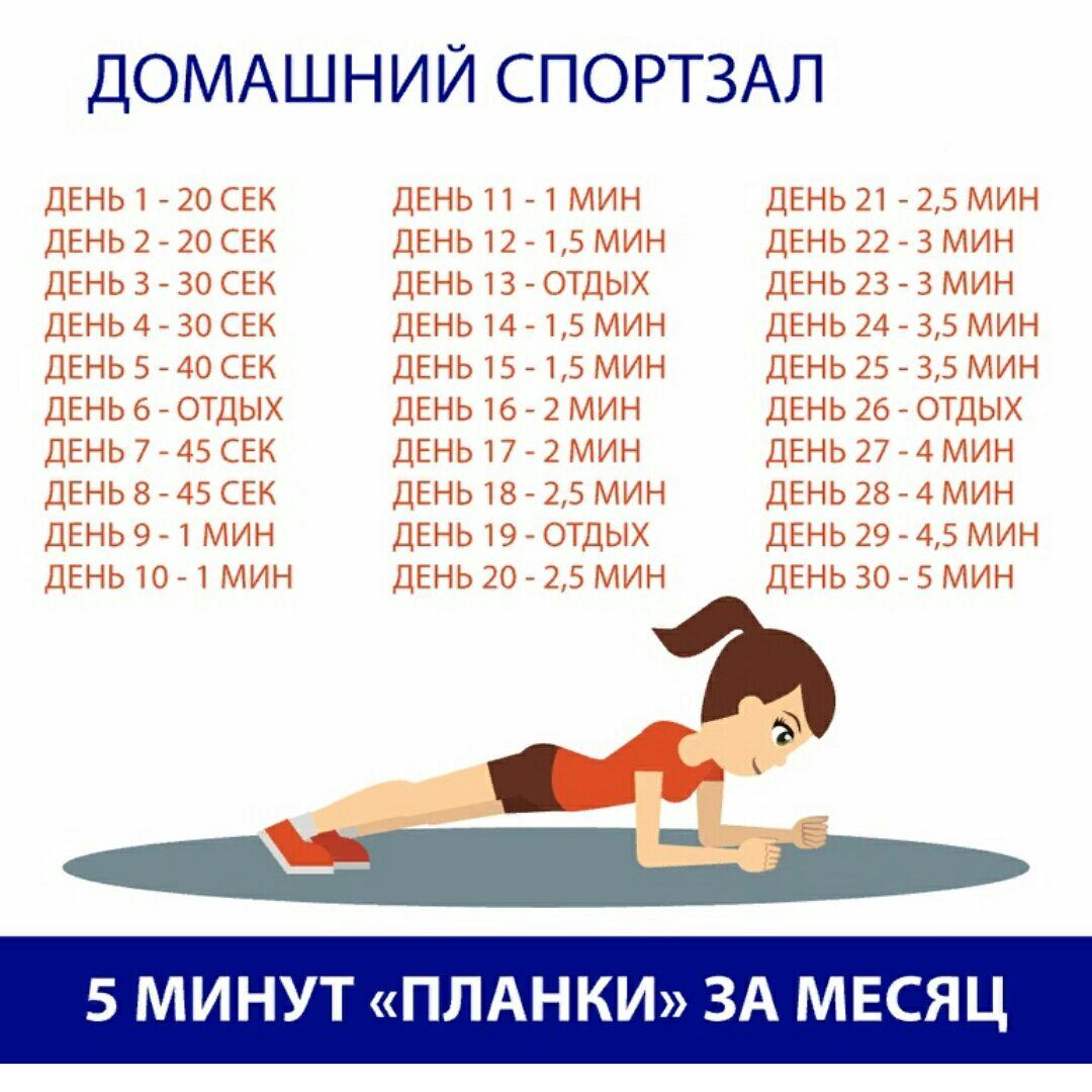 Планка 5 минут в день польза