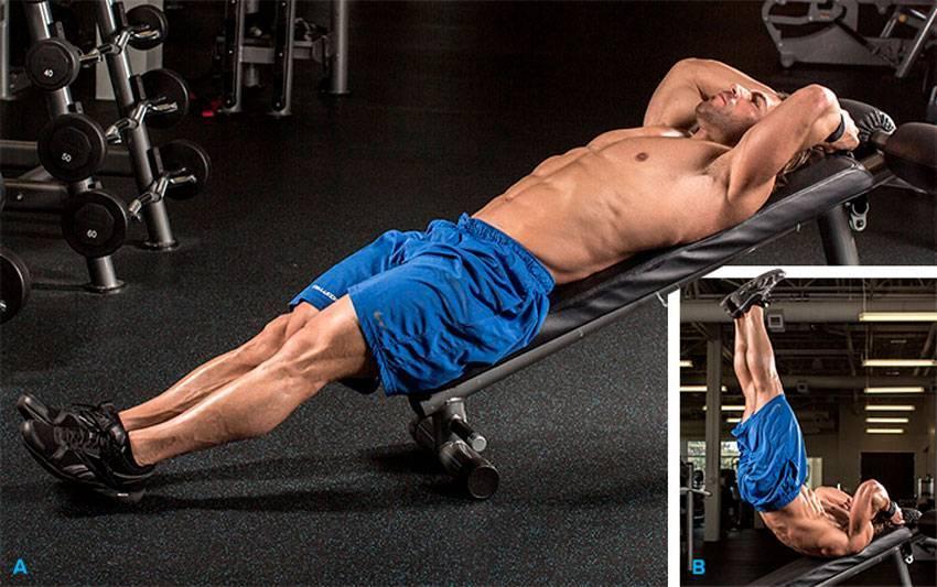 Скручивания на наклонной скамье и видео 11 вариантов упражнения
