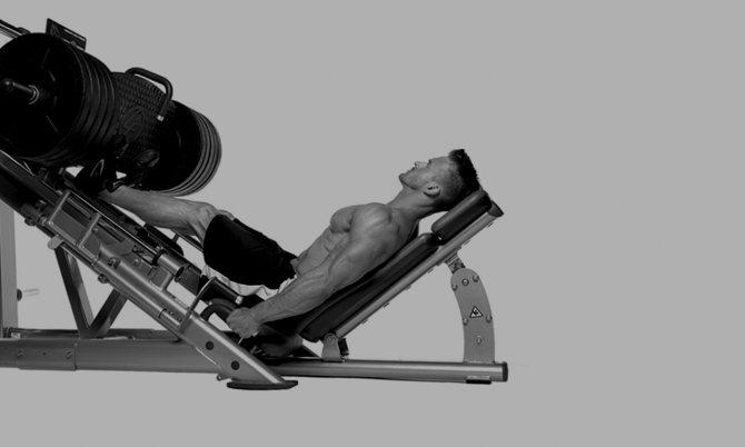 Жим ногами лежа на тренажере. техникавыполнения и советы
