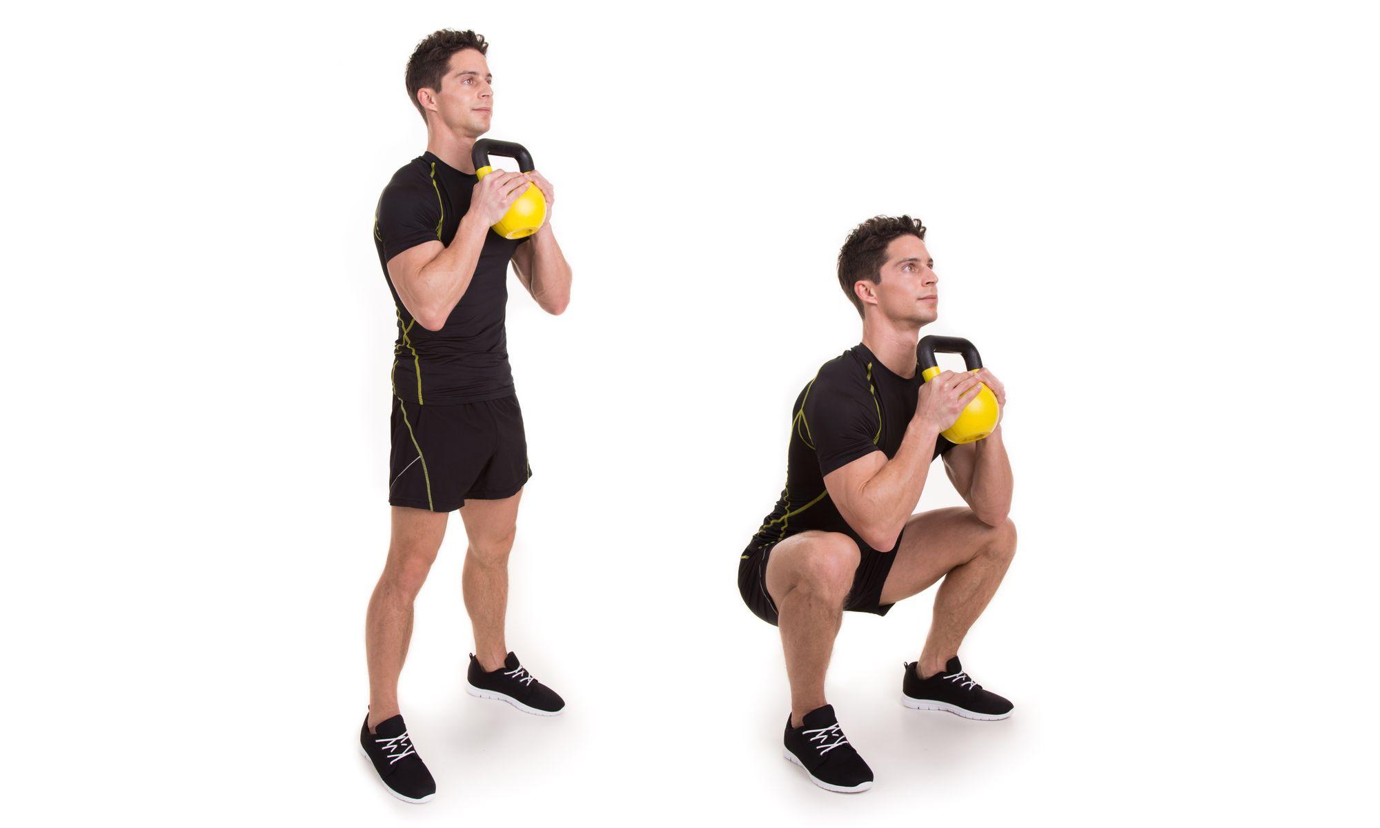 Гоблет приседания: техника выполнения с гирей и польза упражнения