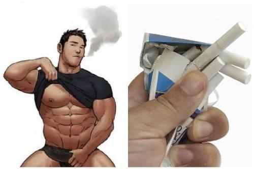 Курение и бодибилдинг: тренажерный зал, пауэрлифтинг, набор мышечной массы