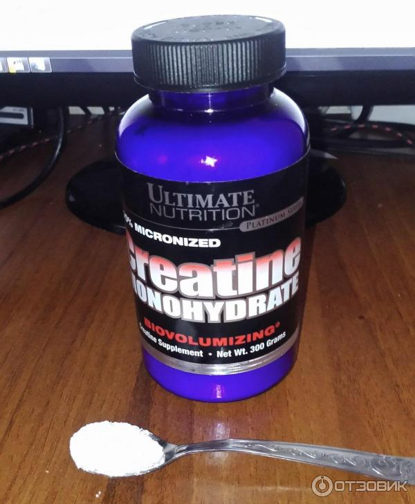 Как принимать creatine monohydrate от ultimate nutrition?