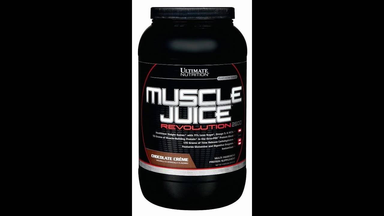 Гейнер muscle juice revolution 2600 5040 гр - 11lb (ultimate nutrition) купить в москве от интернет-магазина pitprofi.ru