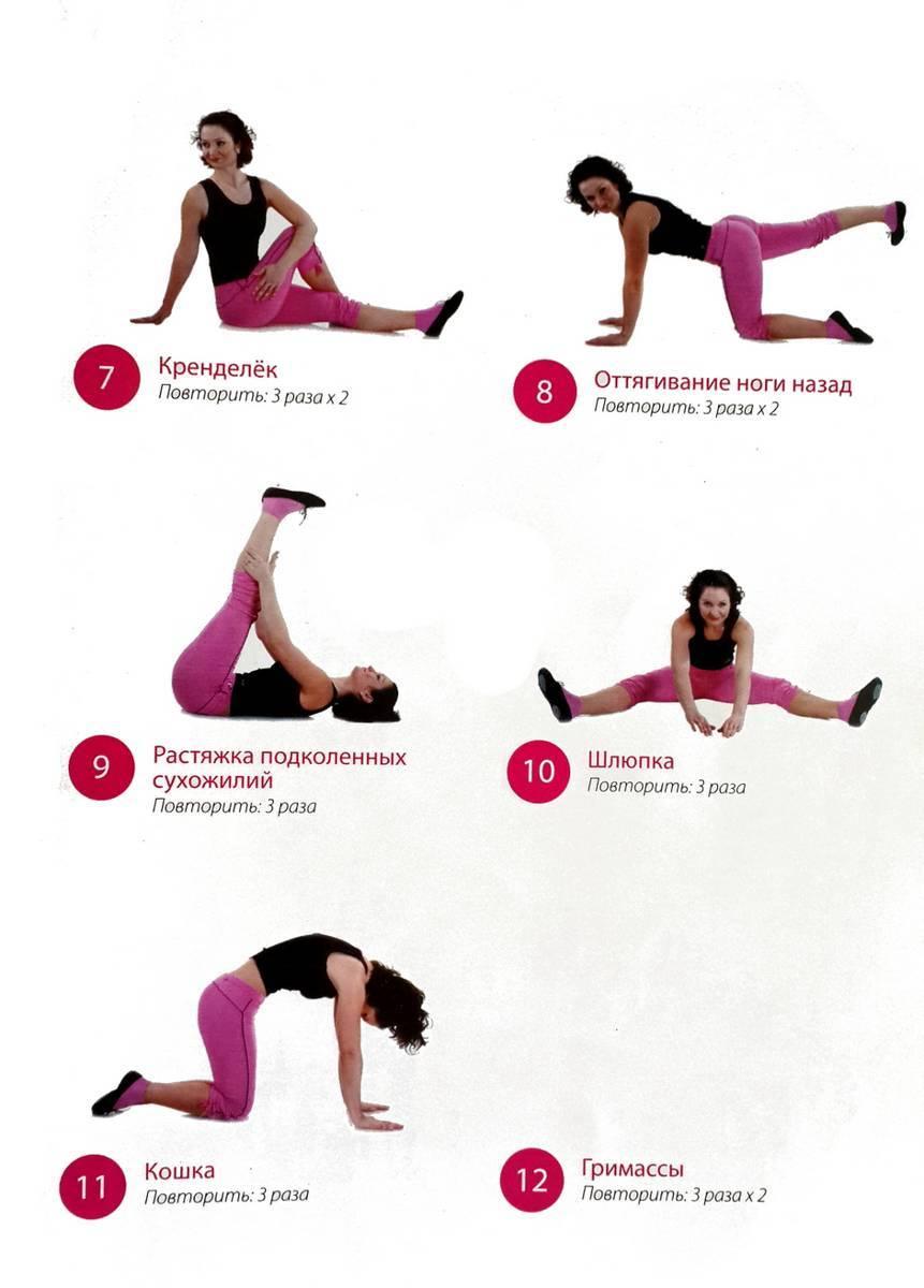 Растяжка (стретчинг) для начинающих в домашних условиях: комплекс упражнений