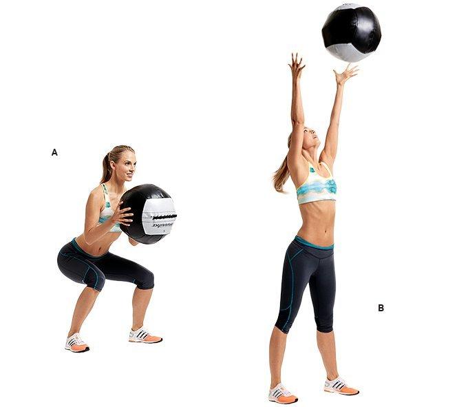 Упражнения с медболом : комплекс на все группы мышц