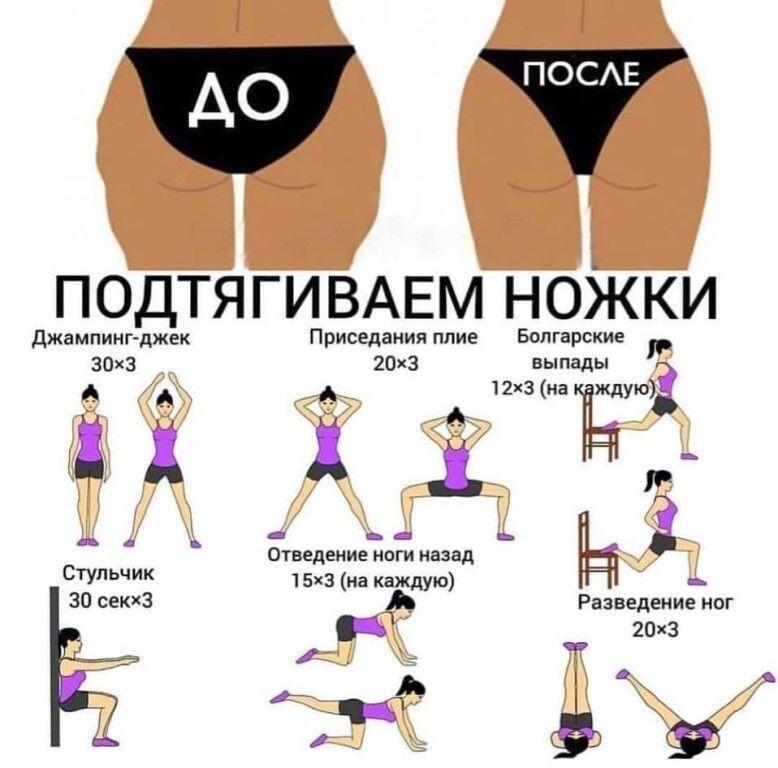 Лучшие упражнения для похудения бедер, ног у женщин в домашних условиях