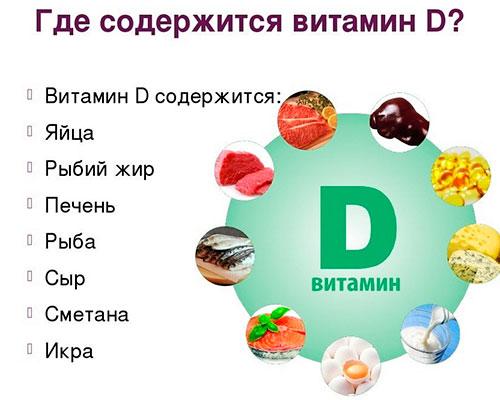 В каких продуктах содержится витамин d?