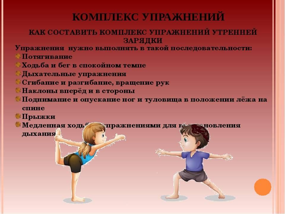 Комплекс упражнений для утренней зарядки для школьников