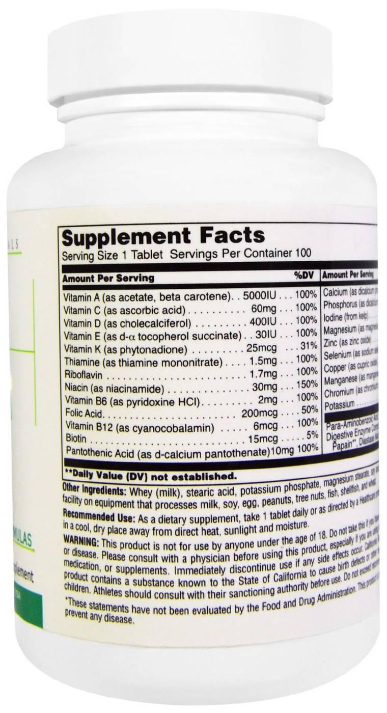 Витамины universal nutrition daily formula состав
