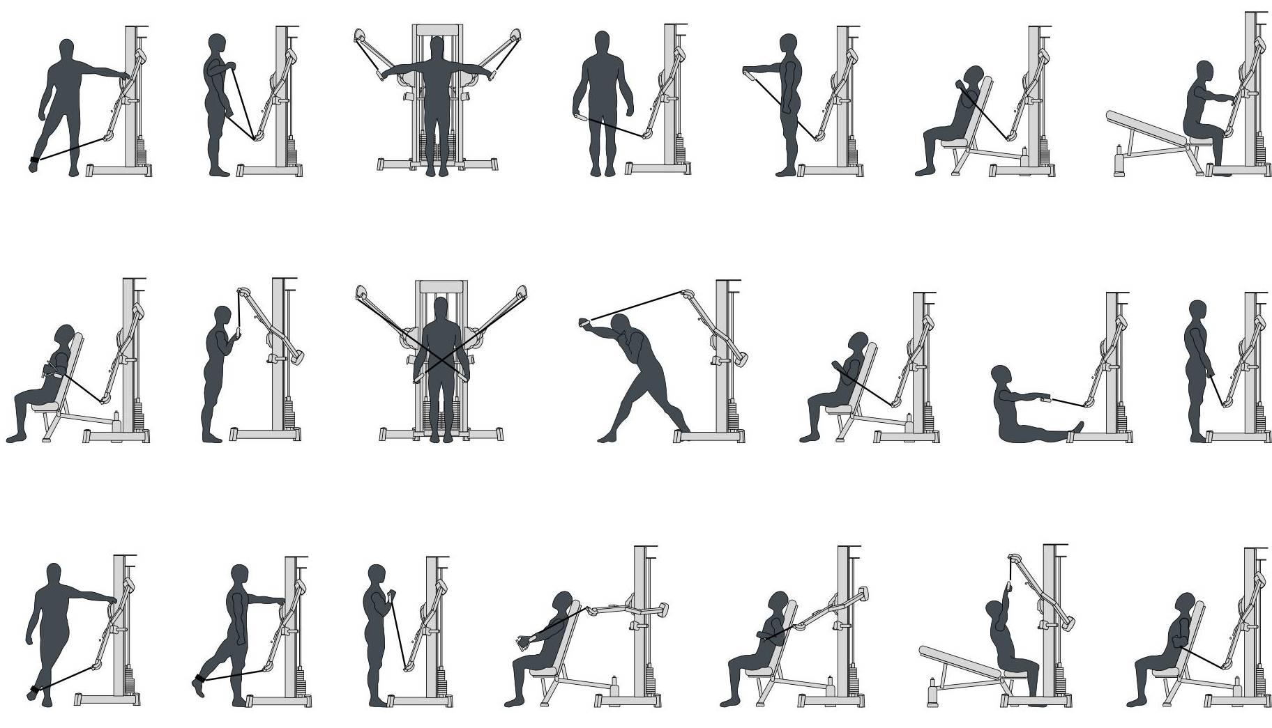 Упражнение на верхних блоках – тренировка в кроссовере: альтернатива классическим занятиям в спортзале