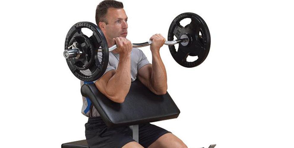 Сгибание рук на скамье скотта – техника выполнения и группы работающих мышц
