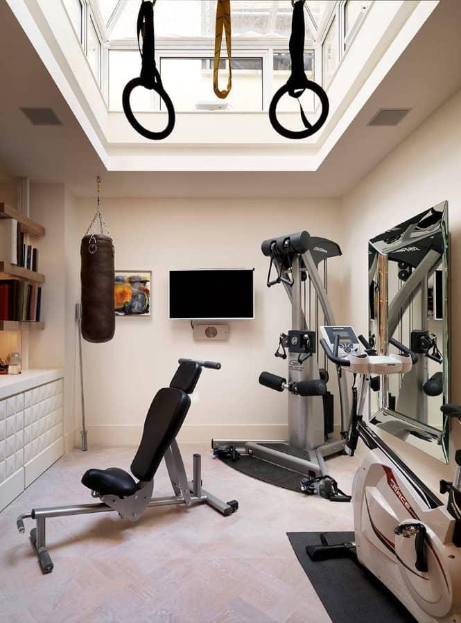 Домашний спортзал: дизайн интерьера и оборудование   домфронт