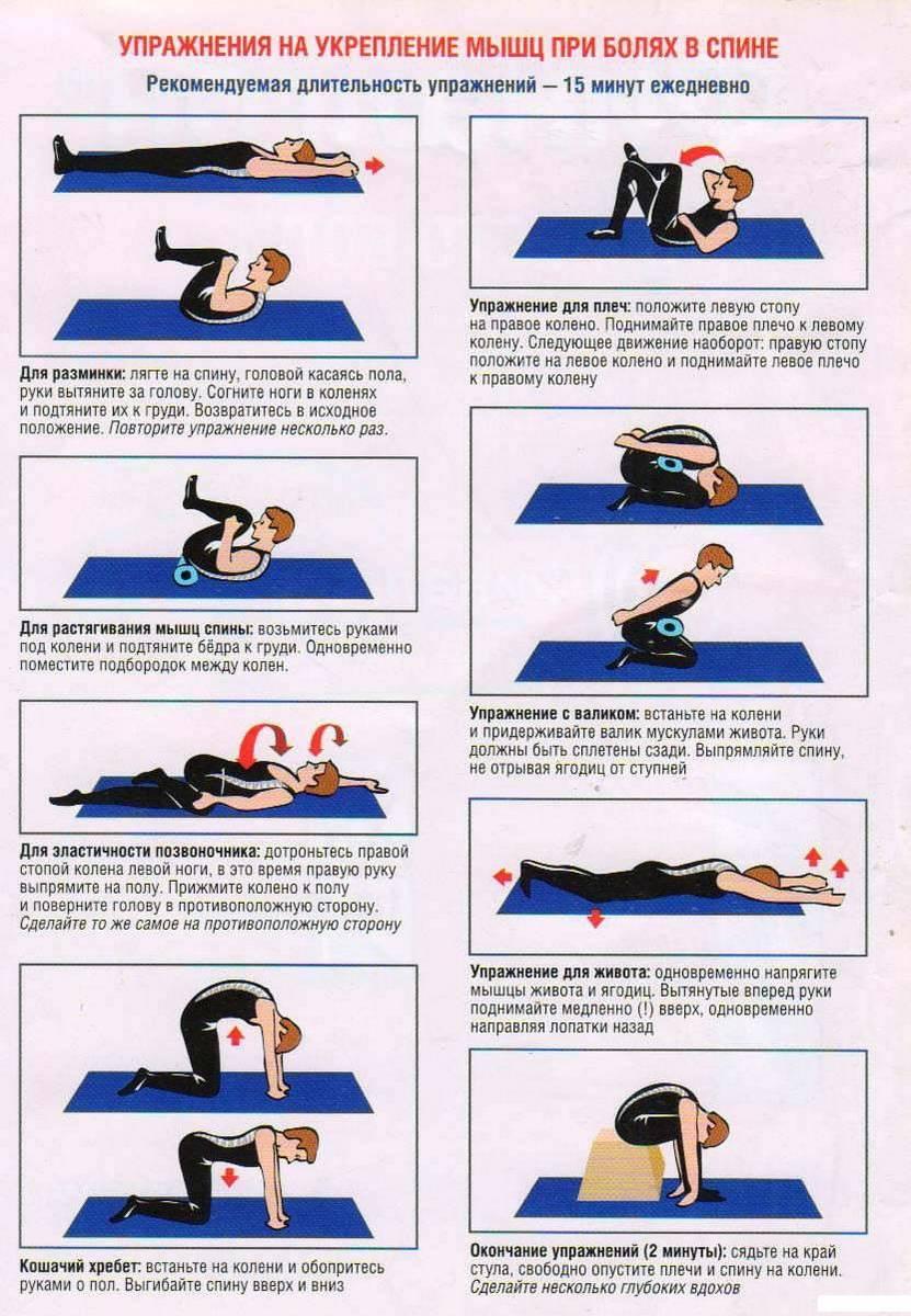 Боль в спине. простые упражнения для снятия острой боли.
