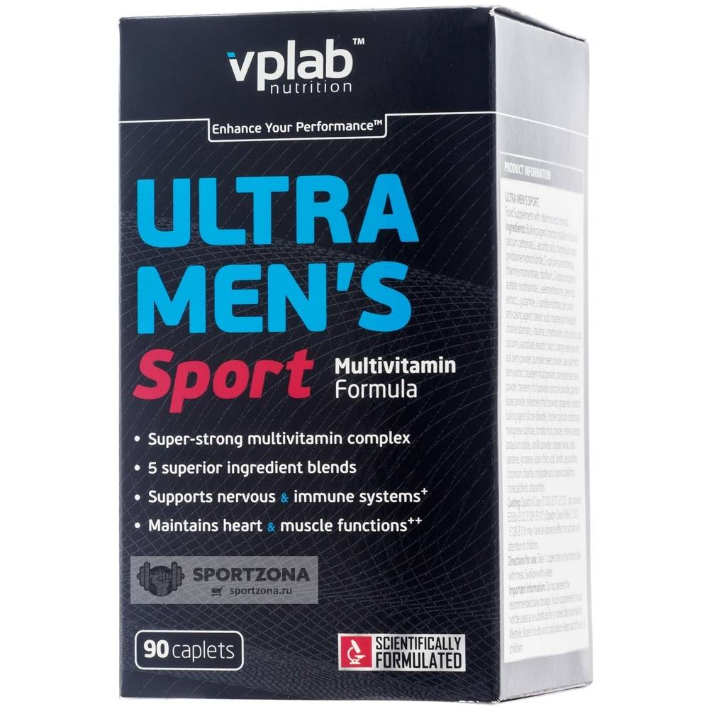 Vplab ultra men's sport multivitamin formula: состав, свойства, цена