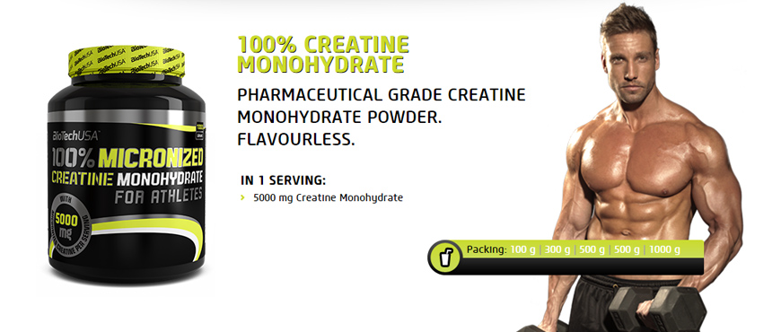 Creatine Monohydrate 100% от Biotech USA