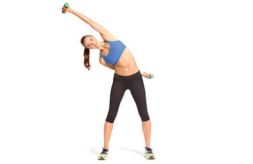 Упражнения с наклонами в сторону