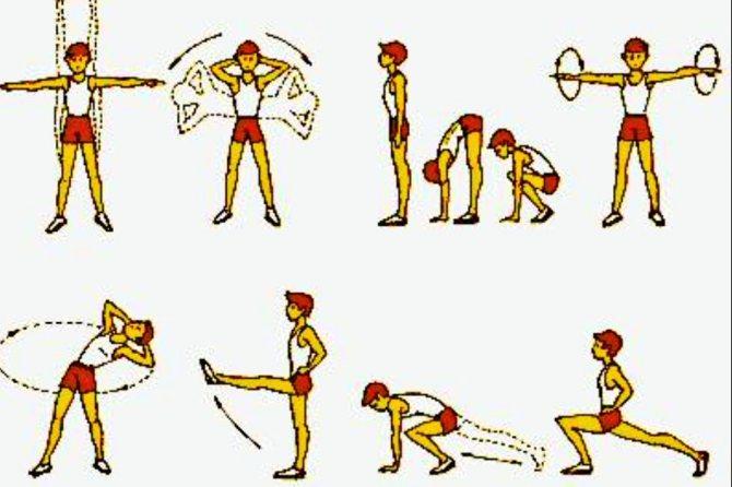 Утренняя зарядка - с чего начать, комплекс упражнений