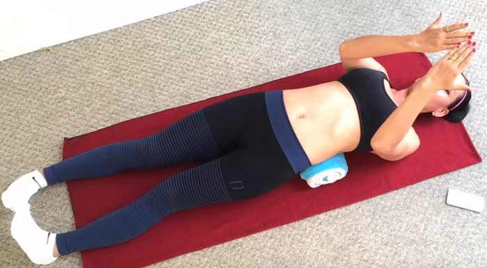 Японская методика с полотенцем для спины и похудения