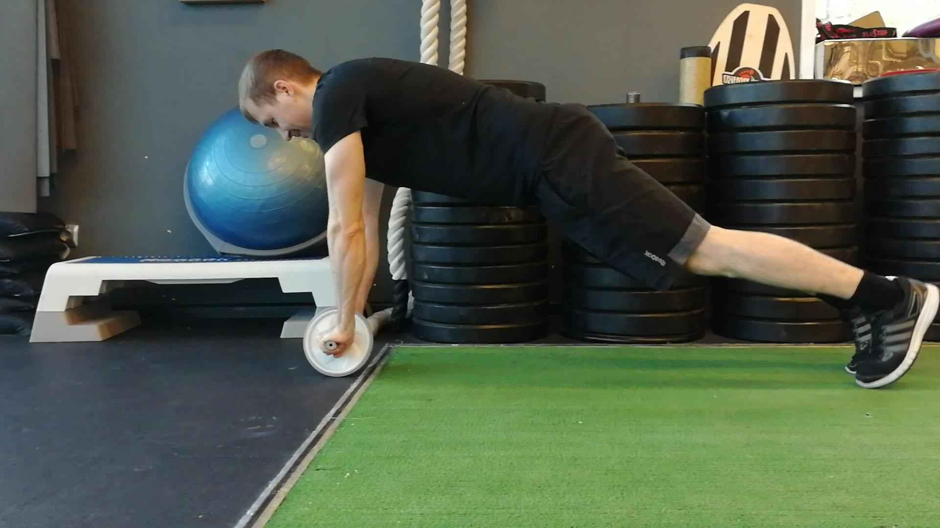 Гимнастический ролик - упражнения для начинающих на пресс и спину, какие мышцы работают? цена и отзывы