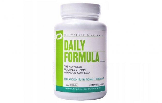 Daily formula витамины как принимать сколько курсов
