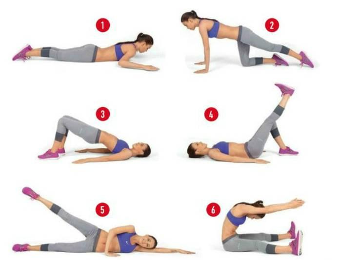 5 упражнений для похудения живота и боков