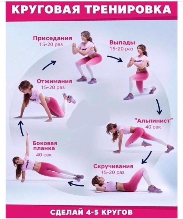 Программа круговой тренировки в тренажерном зале для мужчин и женщин