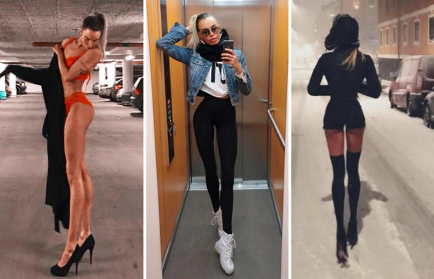 Самая длинноногая модель в мире удивляет своими фотографиями