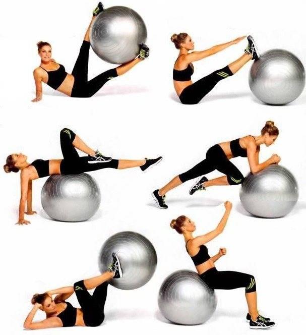 Упражнения для похудения на фитболе в домашних условиях