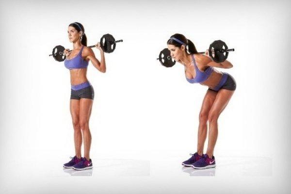 Гуд морнинг: упражнение наклоны со штангой на плечах стоя и сидя вперед, good morning на прямых ногах и в смите - техника выполнения