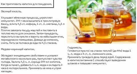 Идеальные жиросжигающие напитки для похудения в домашних условиях