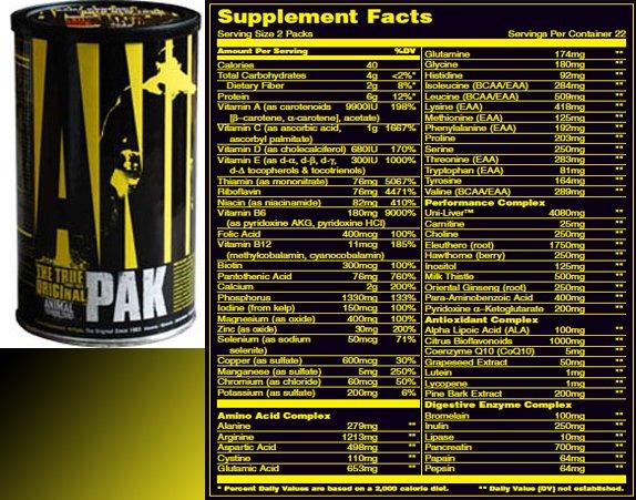 Animal pak от universal nutrition: отзывы, состав и как принимать