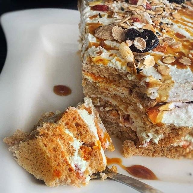 Пошаговый рецепт макового пп-торта без сахара и муки — 330 ккал в порции!