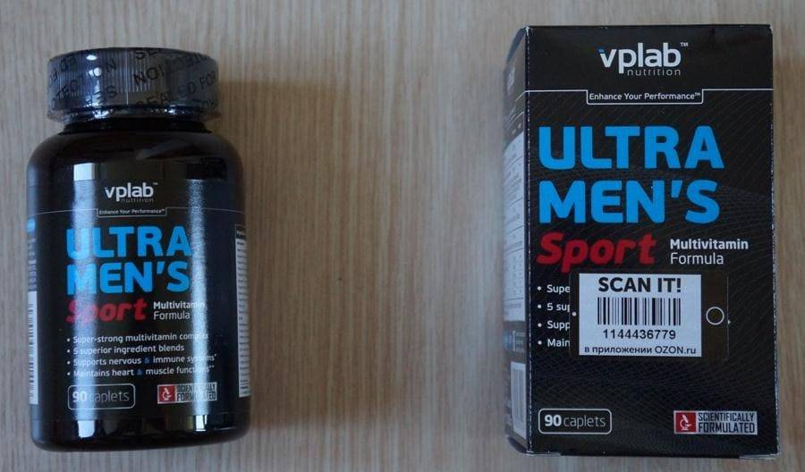 Витамины vplab ultra men s sport multivitamin formula