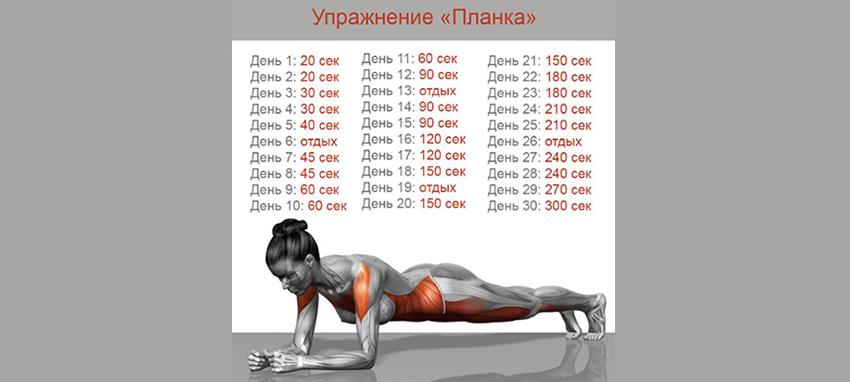 Упражнение планка: вся информация + 45 видов (фото)