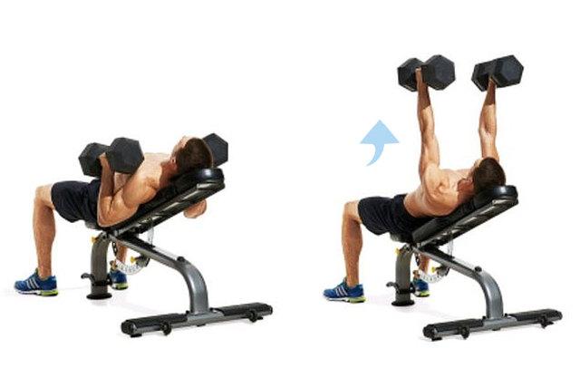Упражнения с гантелями для грудных мышц в домашних условиях и в зале