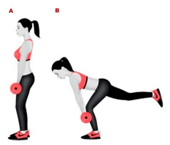 Упражнения для ягодиц с гантелями
