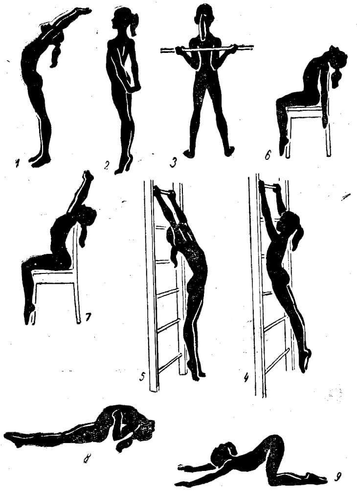 Упражнения для ровной осанки в домашних условиях: комплекс для спины