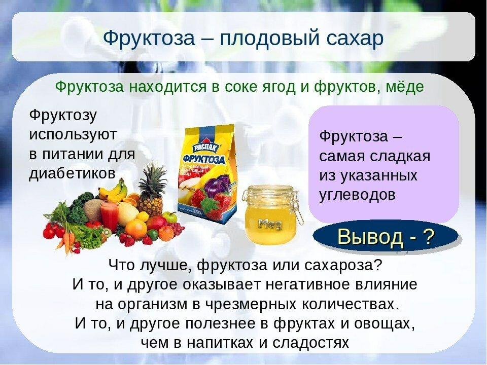 Фруктоза: польза и вред сладкого вещества
