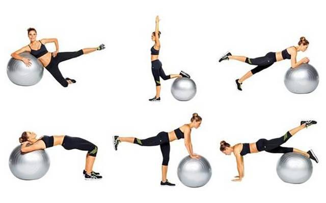 Эффективные упражнения для ног и ягодиц на фитболе — расписываем по пунктам