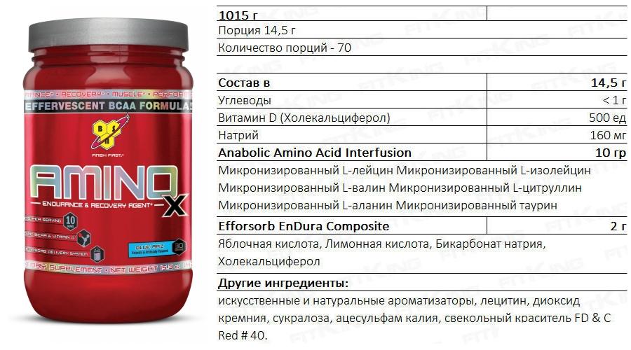 Bcaa amino x: состав, преимущества, схема приема