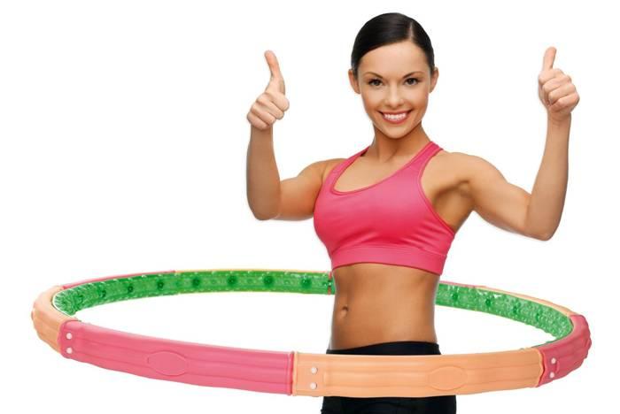 Упражнения с обручем для похудения живота: как крутить и какой выбрать