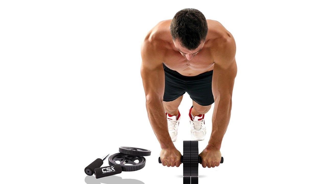 Гимнастический ролик для пресса: упражнения и схема тренировок