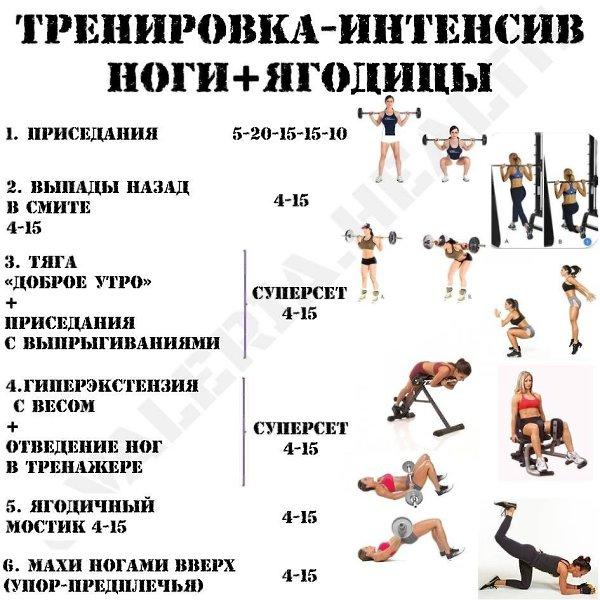 Тренировка ног на массу для мужчин