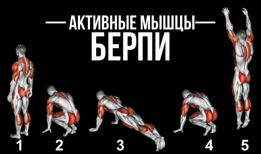 Что такое берпи, техника выполнения упражнения