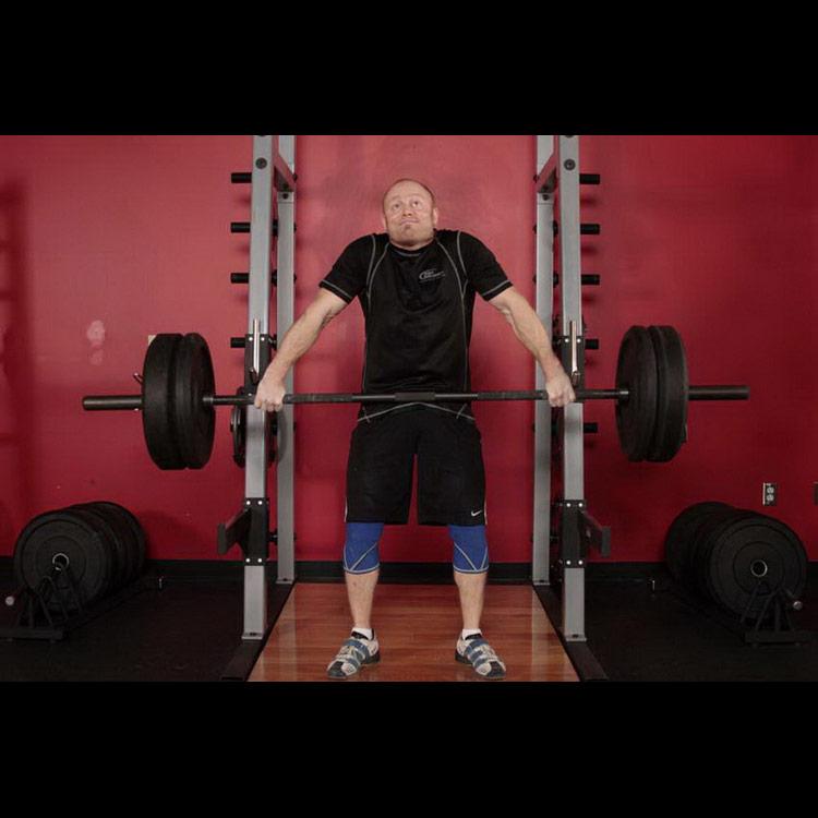 Шраги со штангой - стоя, выбор веса, техника выполнения