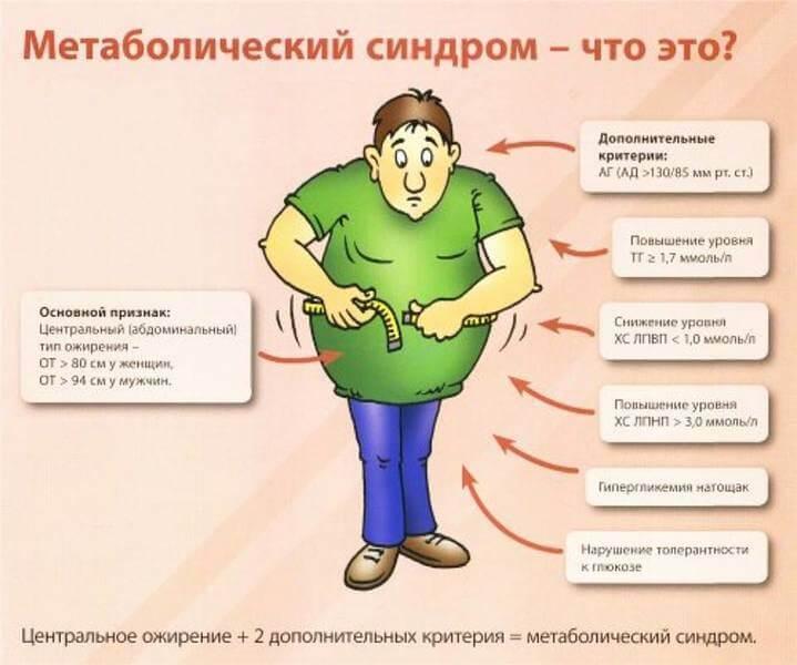 Метаболический синдром у женщин и мужчин: патофизиология, критерии, клинические рекомендации, лечение