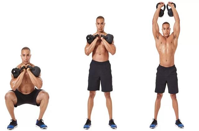 20 упражнений с гирей в домашних условиях на все группы мышц