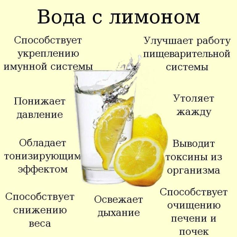 Польза и вред воды с лимоном натощак. что дает для похудения