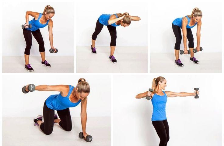 Как убрать жировые складки на спине - виды упражнений