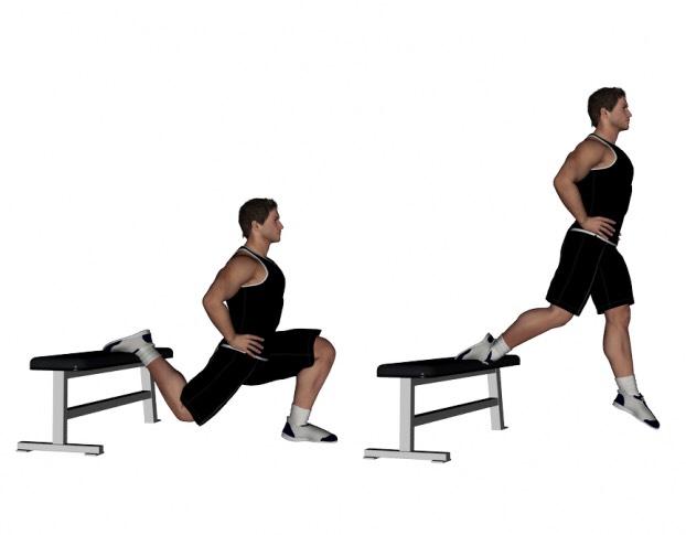 Болгарские приседания (выпады): вариации упражнения и техника выполнения сплит приседа